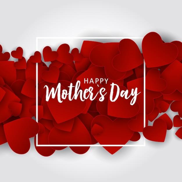 Cartolina d'auguri di happy mothers day Vettore Premium