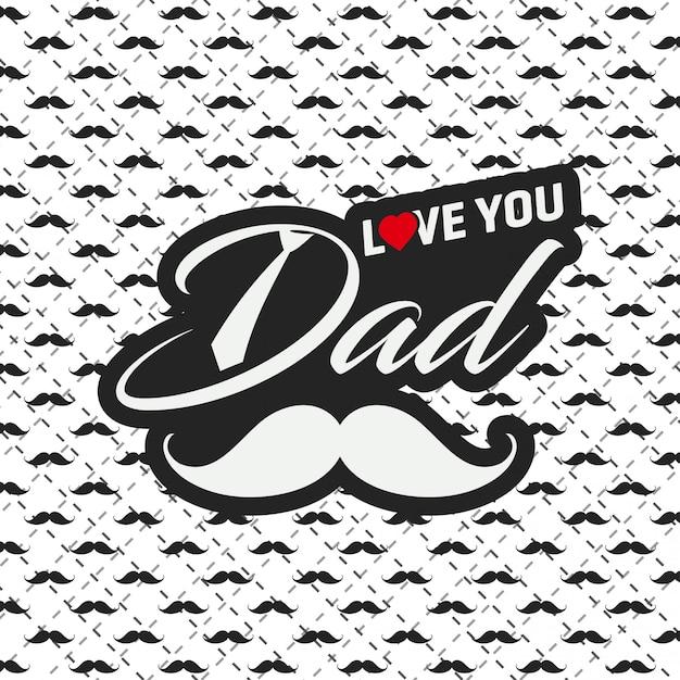 Cartolina d'auguri felice di festa del papà con il fondo del modello Vettore gratuito