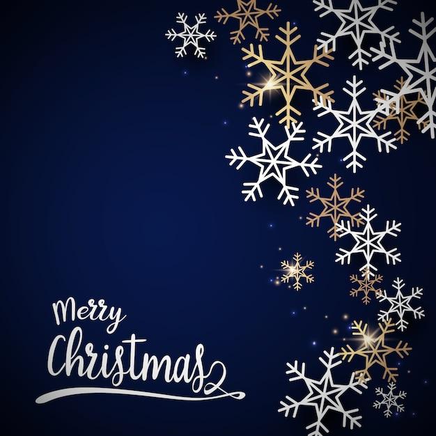 Cartolina di buon natale e felice anno nuovo. Vettore Premium