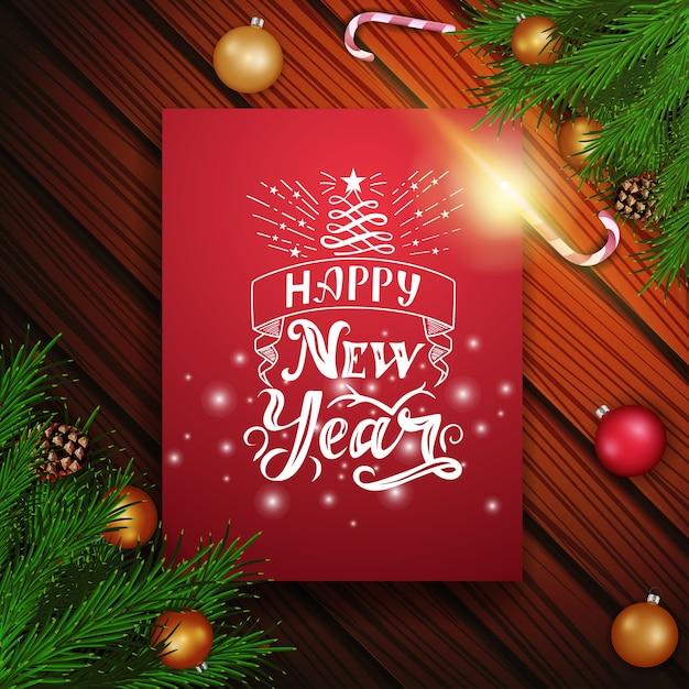 Immagini Natalizie Con Scritte.Cartolina Di Natale Con Belle Scritte Scaricare Vettori
