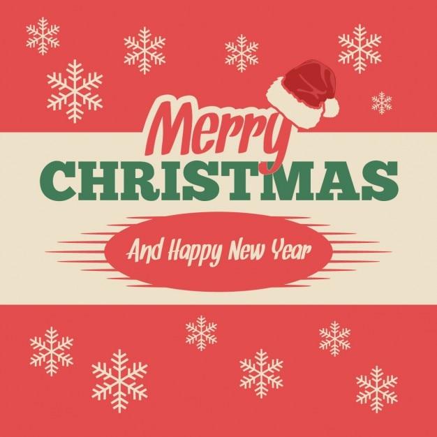 Amato Cartolina di Natale vintage con fiocchi di neve   Scaricare  FC04
