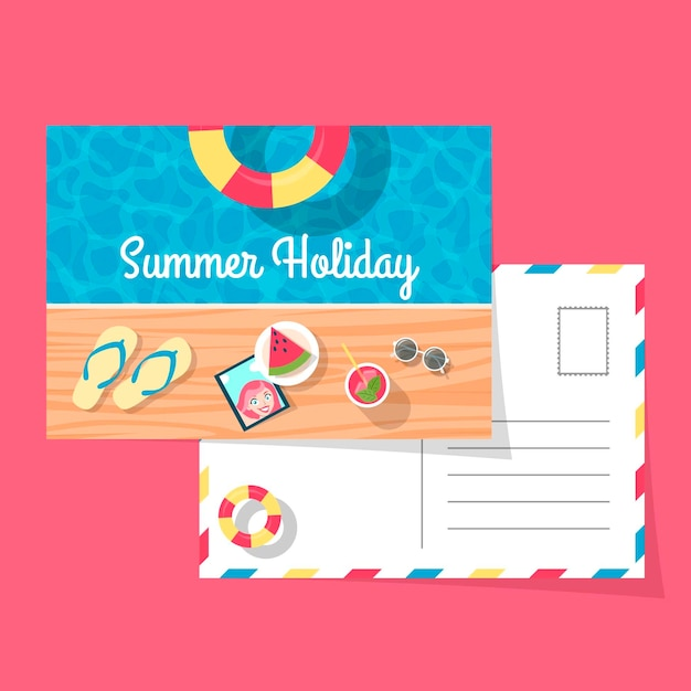 Cartolina di vacanza Vettore gratuito