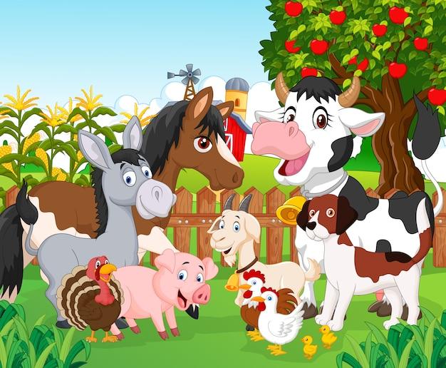 Cartone animato animale carino Vettore Premium