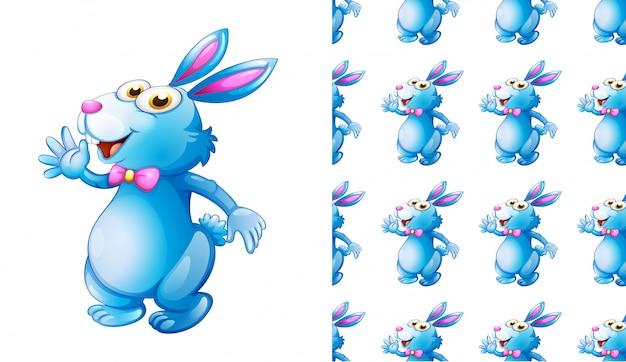 Cartone animato animale modello coniglio senza soluzione di continuità Vettore gratuito