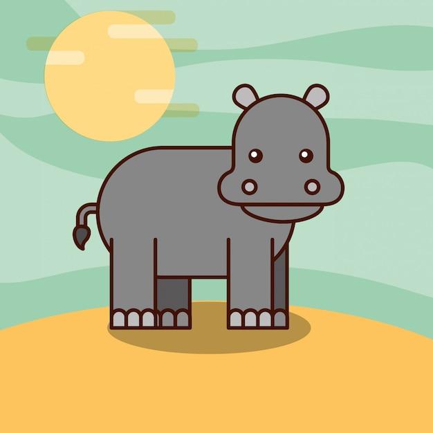 Cartone animato animali di safari Vettore gratuito