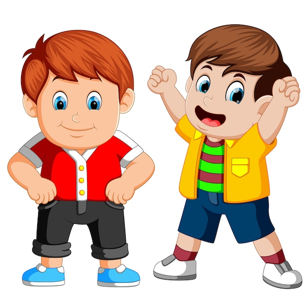 Cartone animato bambino felice scaricare vettori premium