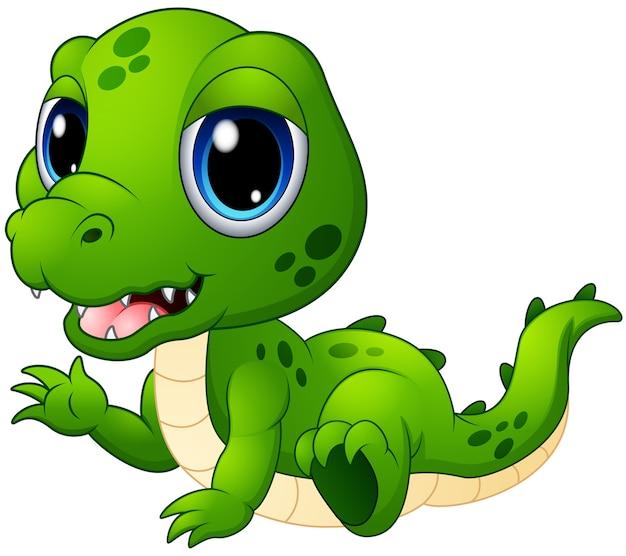 Cartone animato carino coccodrillo del bambino scaricare