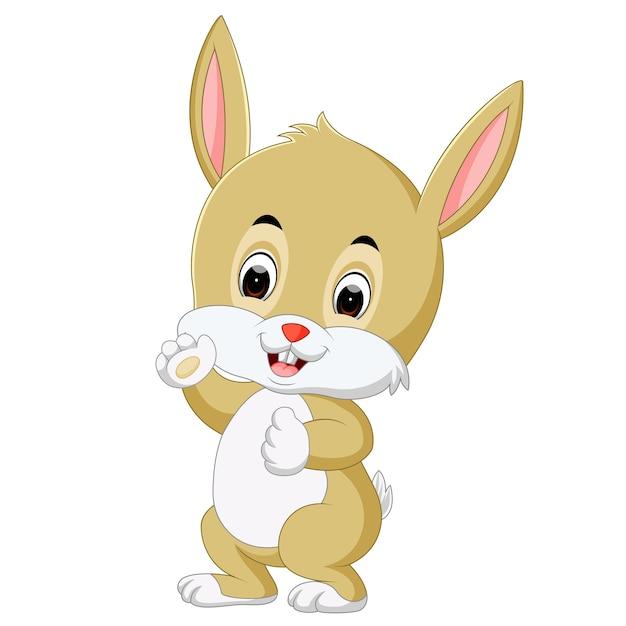 Cartone animato carino coniglio scaricare vettori premium