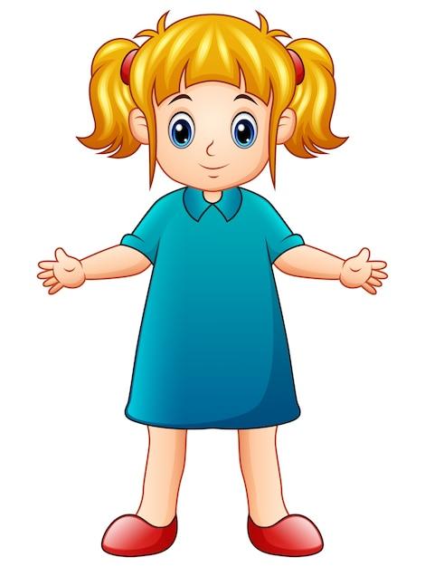 Cartone animato carino della bambina scaricare vettori