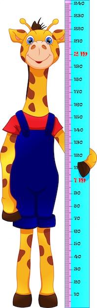 Cartone animato carino giraffa Vettore Premium