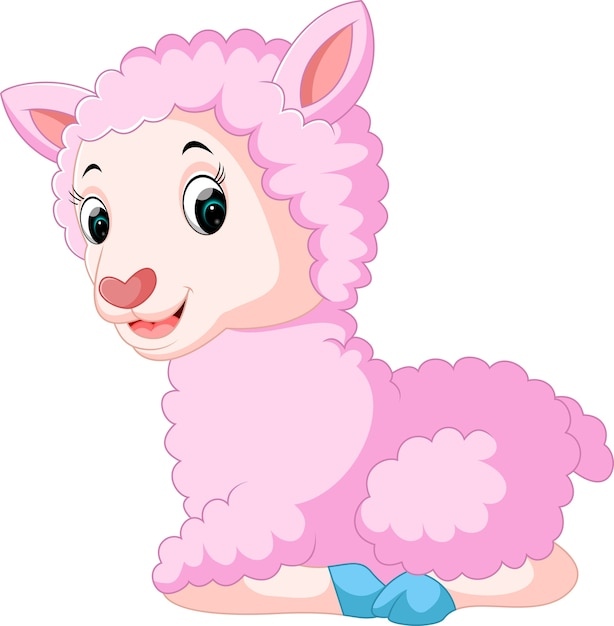Personaggio dei cartoni animati sveglio delle pecore con il
