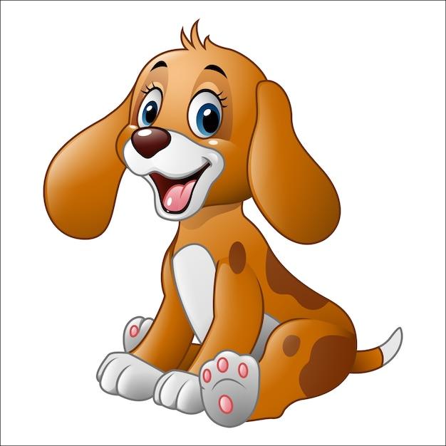 Cartone animato carino piccolo cane scaricare vettori