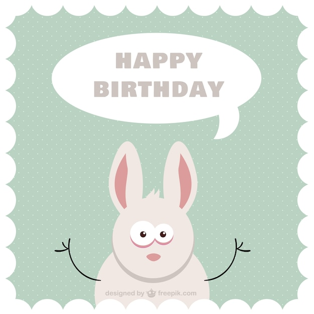 Cartone animato coniglio carta b day scaricare vettori