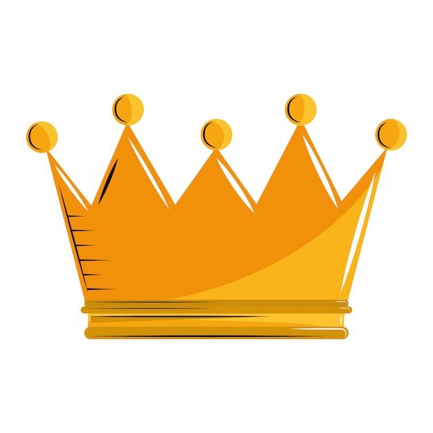Cartone animato corona re Vettore Premium
