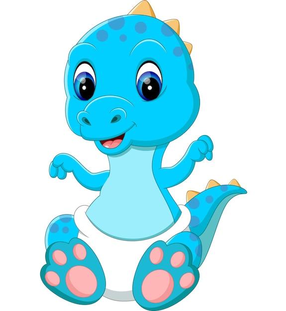 Cartone animato di dinosauro bambino scaricare vettori
