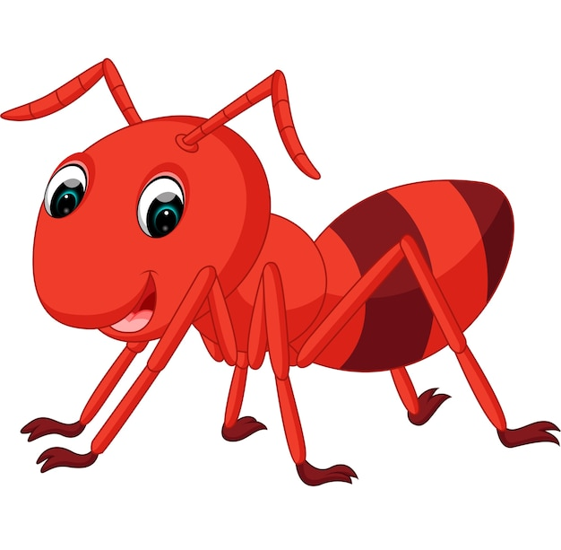 Cartone animato di formica rossa scaricare vettori premium