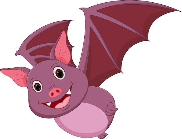Cartone animato di pipistrello volante felice scaricare