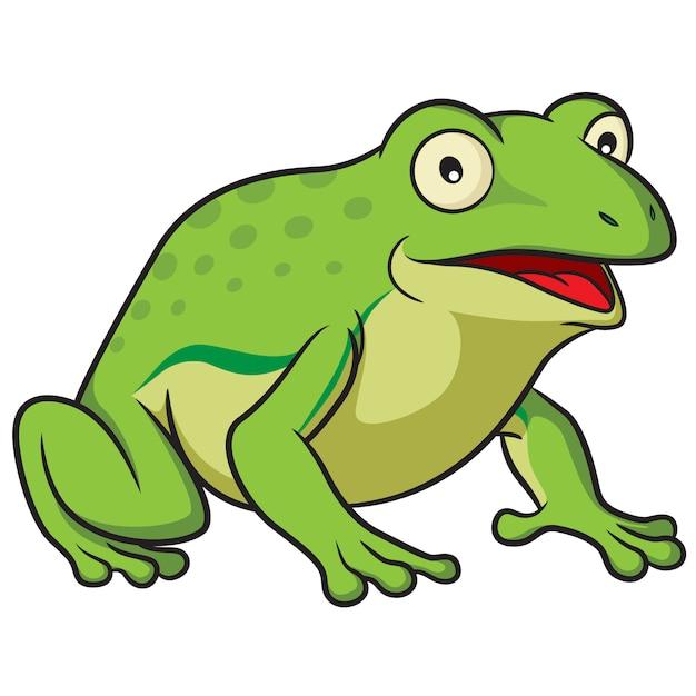 Cartone animato di rana Vettore Premium
