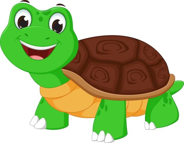Cartone animato di tartaruga felice scaricare vettori