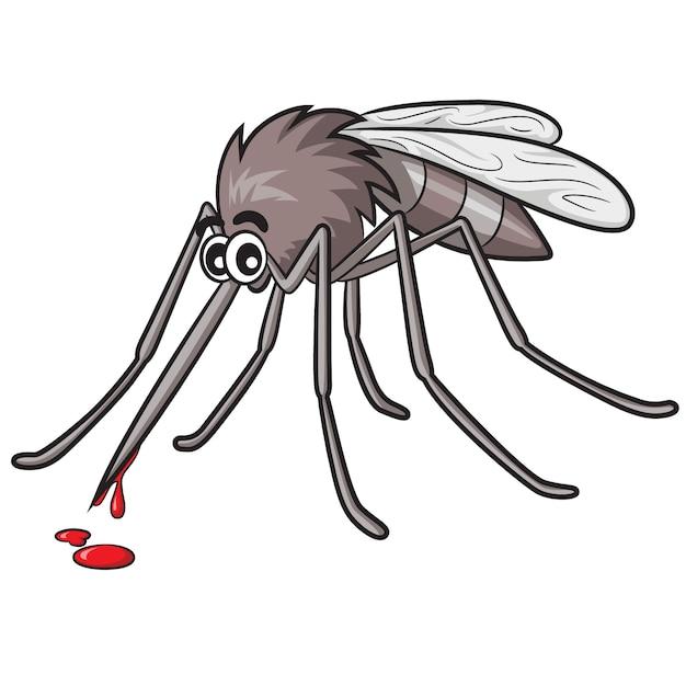Cartone animato di zanzara Vettore Premium