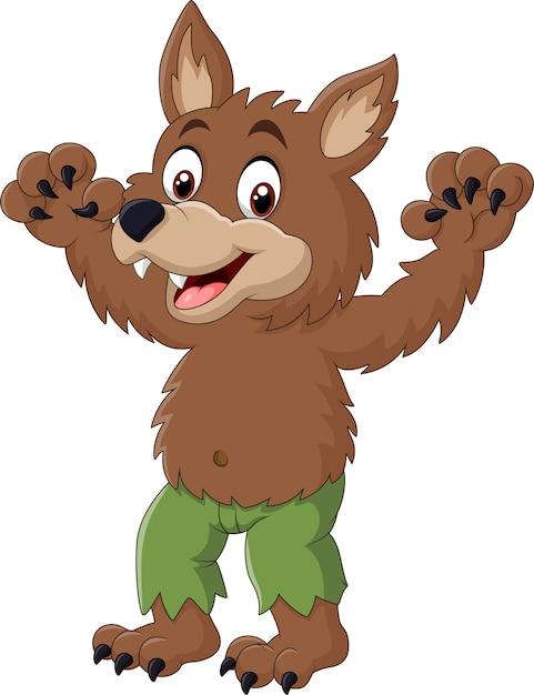Cartone animato divertente personaggio lupo mannaro scaricare