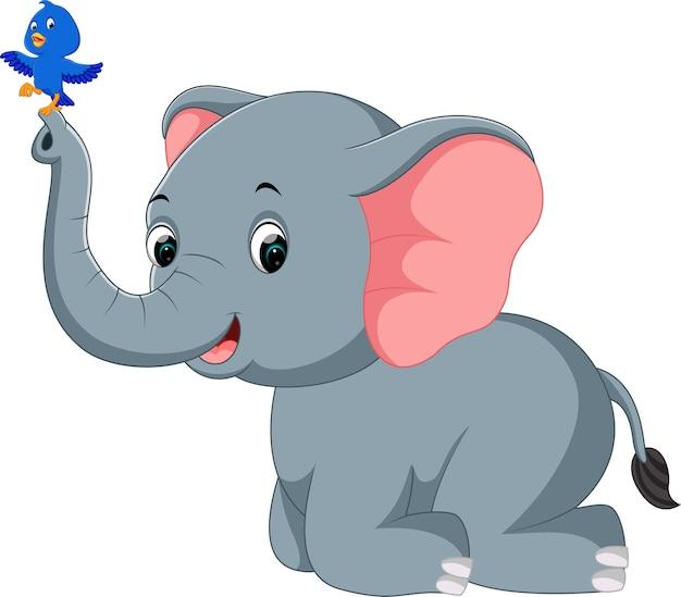 Cartone animato elefante scaricare vettori premium