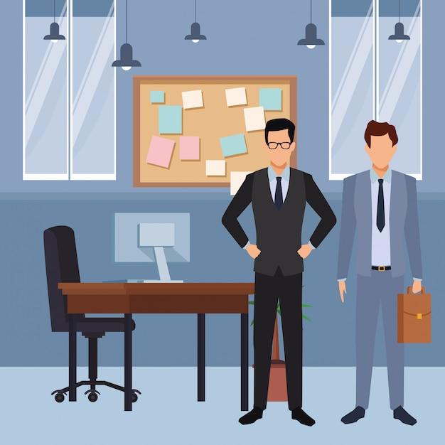 Cartone animato esecutivo aziendale Vettore Premium
