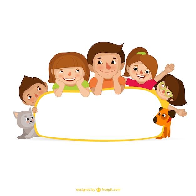 Cartone animato famiglia scaricare vettori gratis