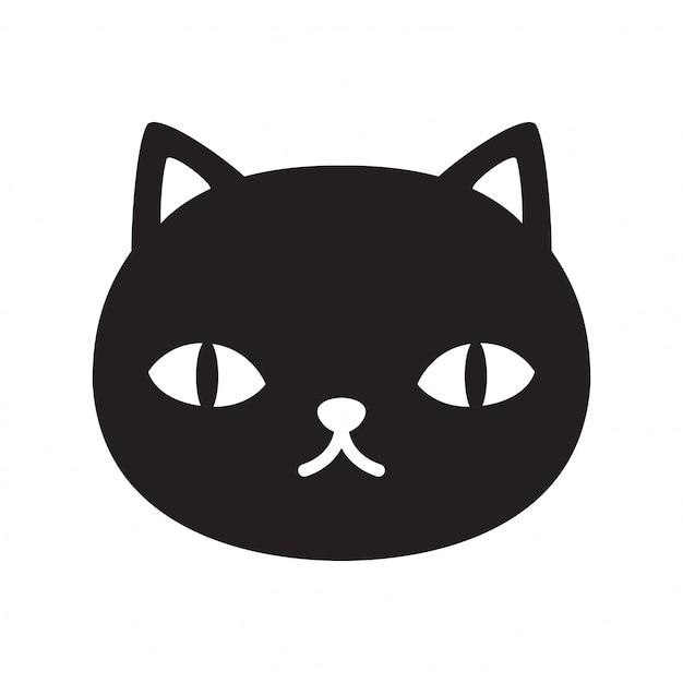 Cartone animato gatto gattino Vettore Premium