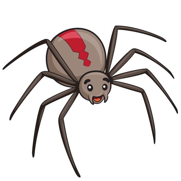 Cartone animato ragno Vettore Premium