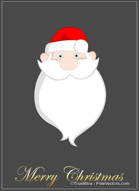 Cartone animato santa barba biglietto di auguri
