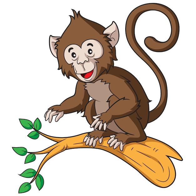 Cartone animato scimmia Vettore Premium