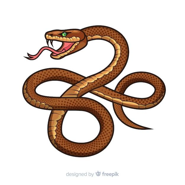 Cartone animato serpente sfondo Vettore gratuito