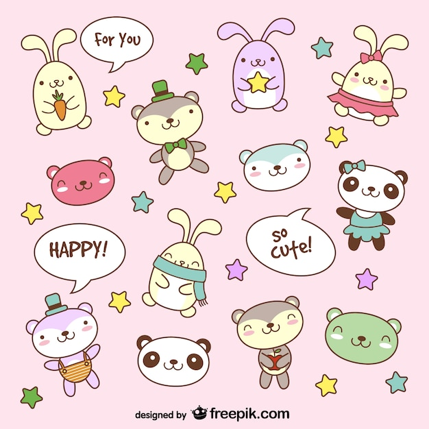 Cartone animato teddy bear bunny animale foto scaricare