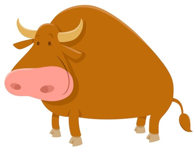 Cartone animato toro animale da fattoria scaricare vettori premium