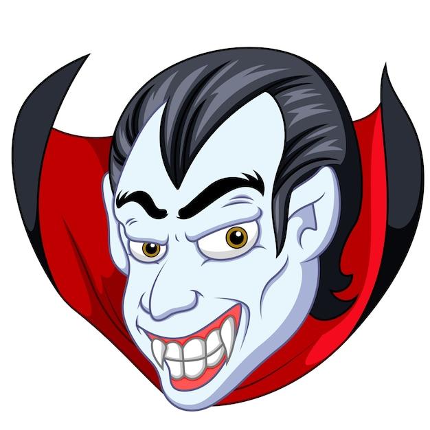 Cartone animato volto di vampiro scaricare vettori premium