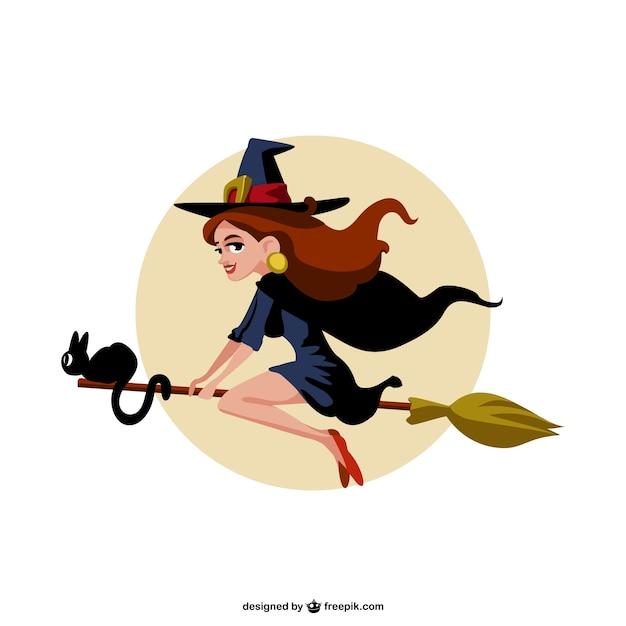 Cartone animato witch vettore scaricare vettori gratis