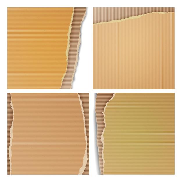Cartone ondulato Vettore Premium