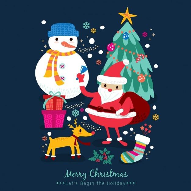 Foto Di Natale Animate Gratis.Cartoni Animati Di Natale Babbo Natale Pupazzo Di Neve