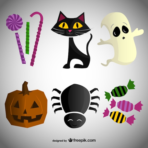 Cartoni animati pacco per halloween scaricare vettori gratis