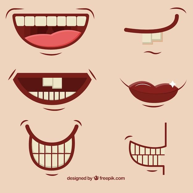 Cartoon bocche Vettore gratuito