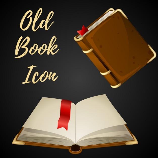 Cartoon libro marrone Vettore gratuito