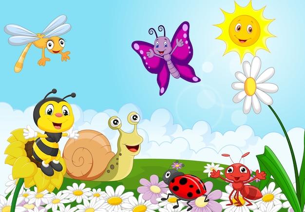 Cartoon piccoli animali Vettore Premium