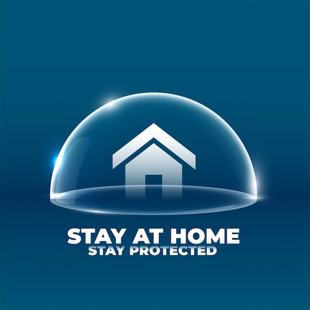 Casa con scudo protettivo concept design del poster Vettore gratuito