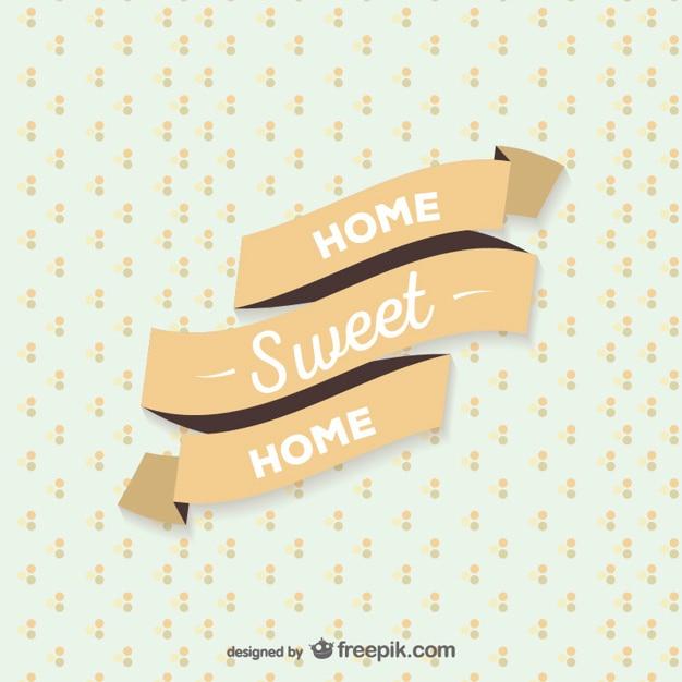 Casa dolce casa nastro Vettore gratuito