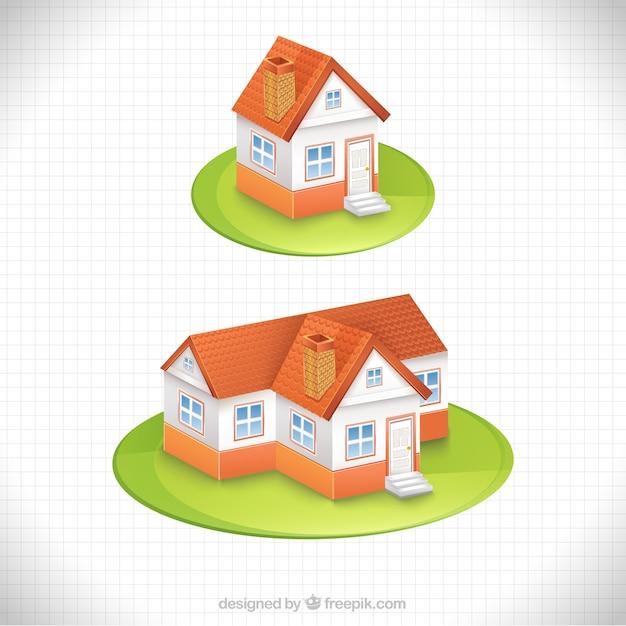 Casa in stile cartone animato scaricare vettori gratis