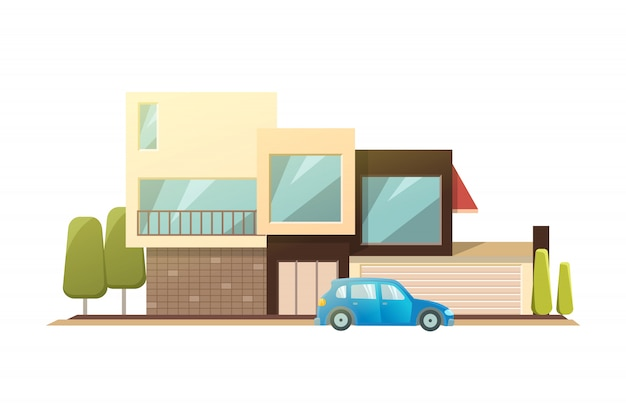 Casa moderna Vettore Premium