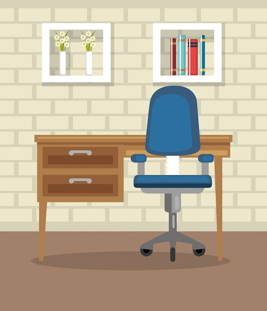 Casa ufficio luogo casa Vettore gratuito
