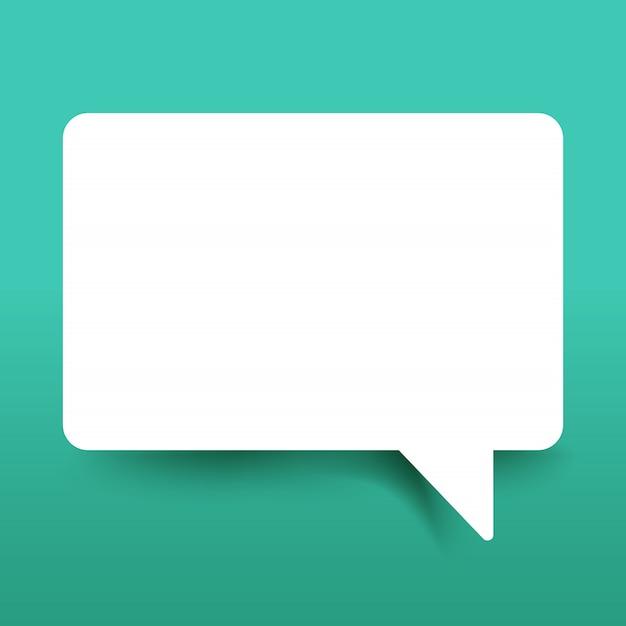 Casella di discorso di carta bianca Vettore Premium