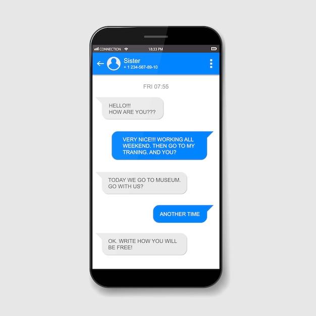Caselle di chat dal vivo per cellulari. finestra di messenger. Vettore Premium
